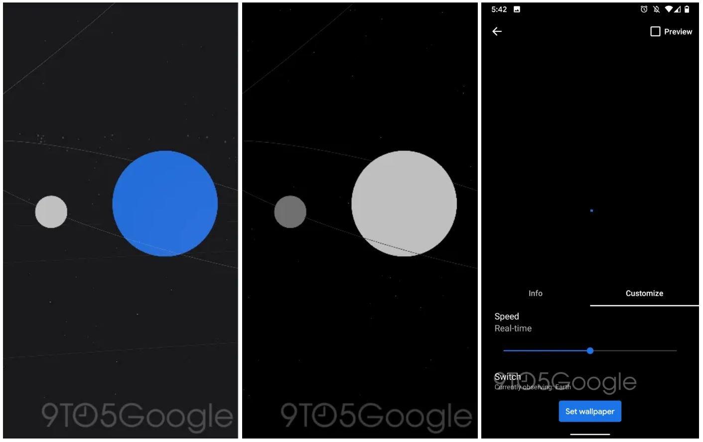 pixel 4 live wallpaper sun planets