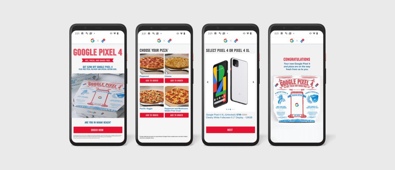 pixel 4 pizza screenshots