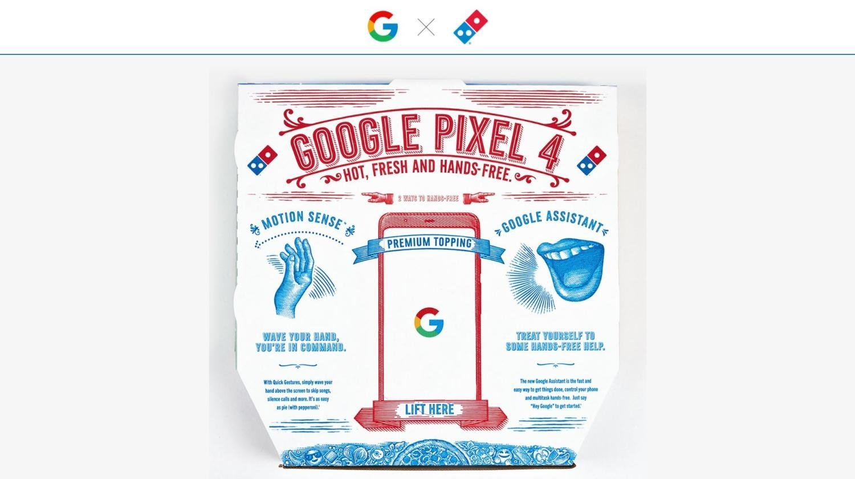 pixel 4 pizza