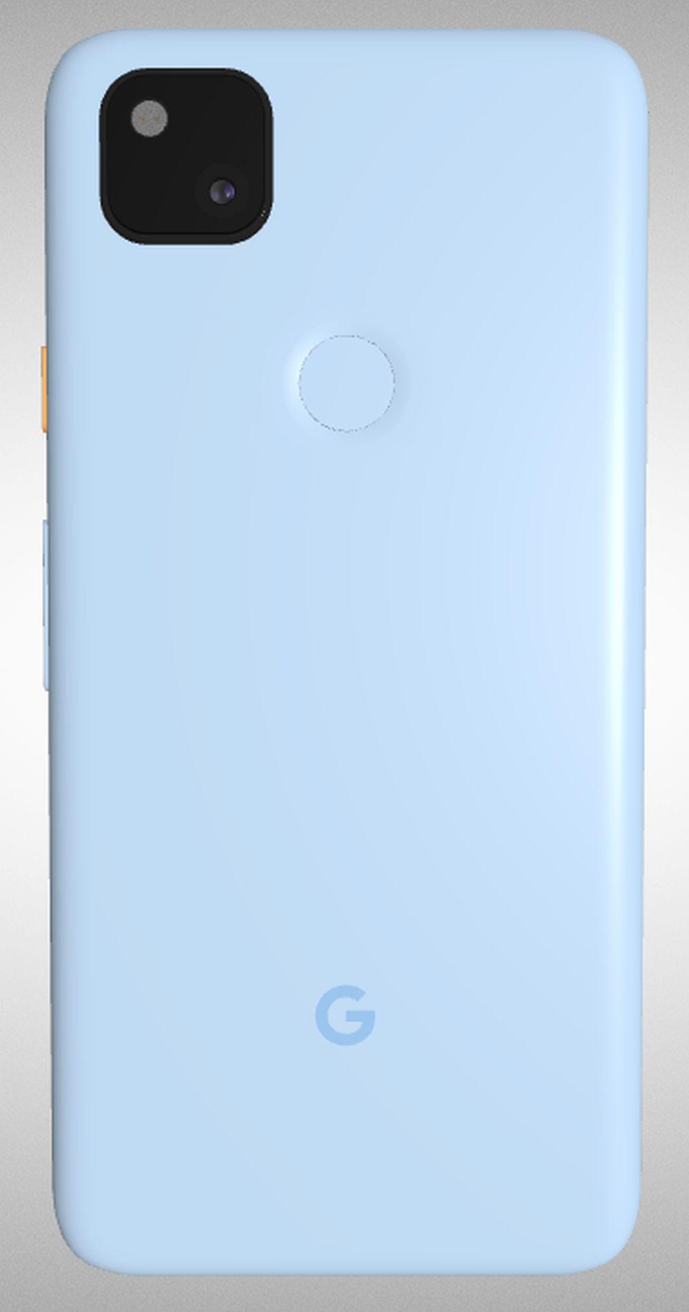 pixel 4a in blau back