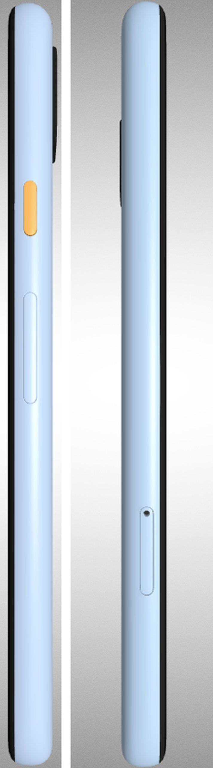 pixel 4a in blau side