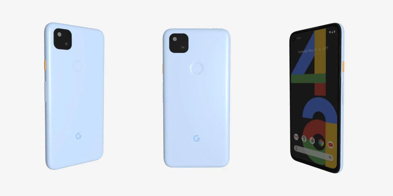 pixel 4a in blau
