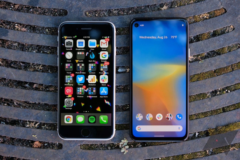 pixel 4a vs iphone se 4