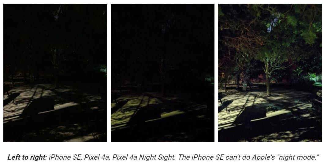 pixel 4a vs iphone se camera 4