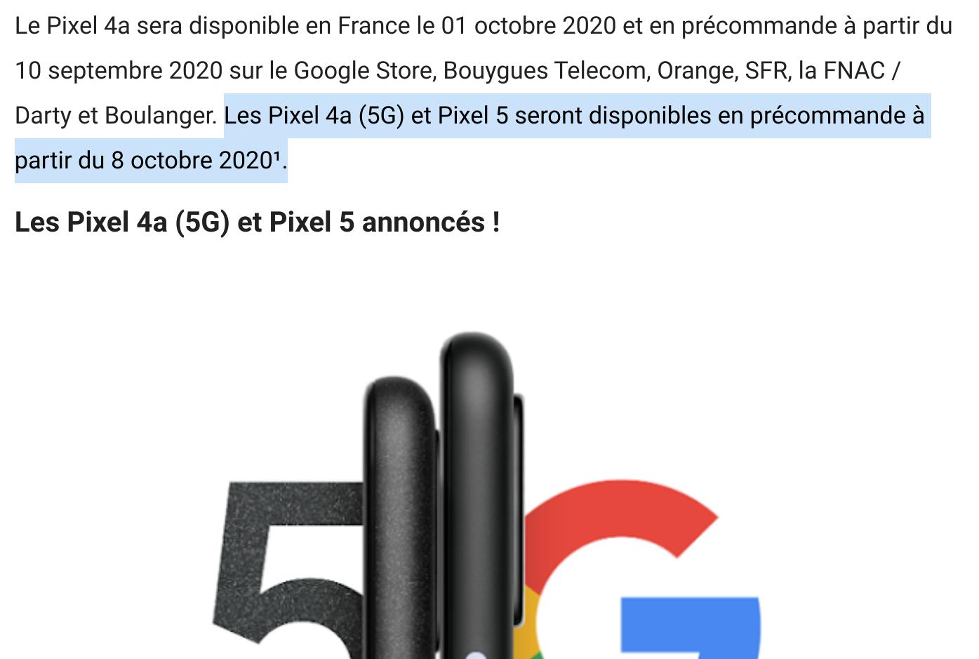 pixel 5g date
