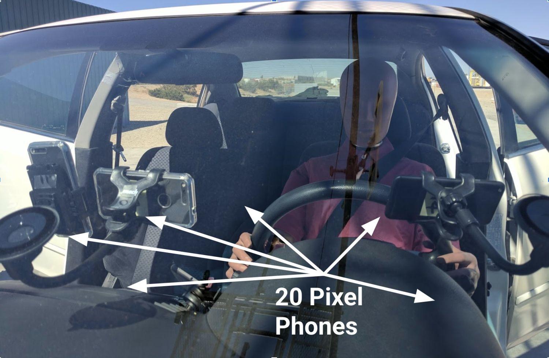 pixel car crash