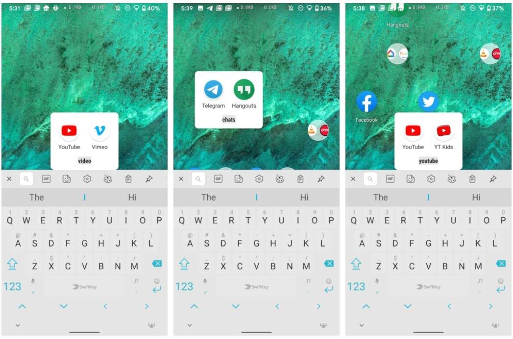 pixel launcher folder screenshots