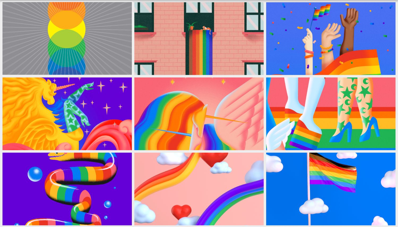 pixel wallpaper gay pride month