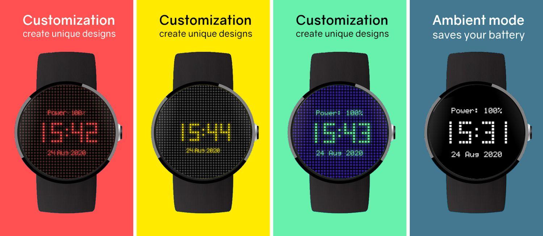 pixel watch face colors