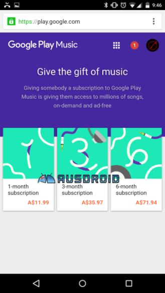 play music gift