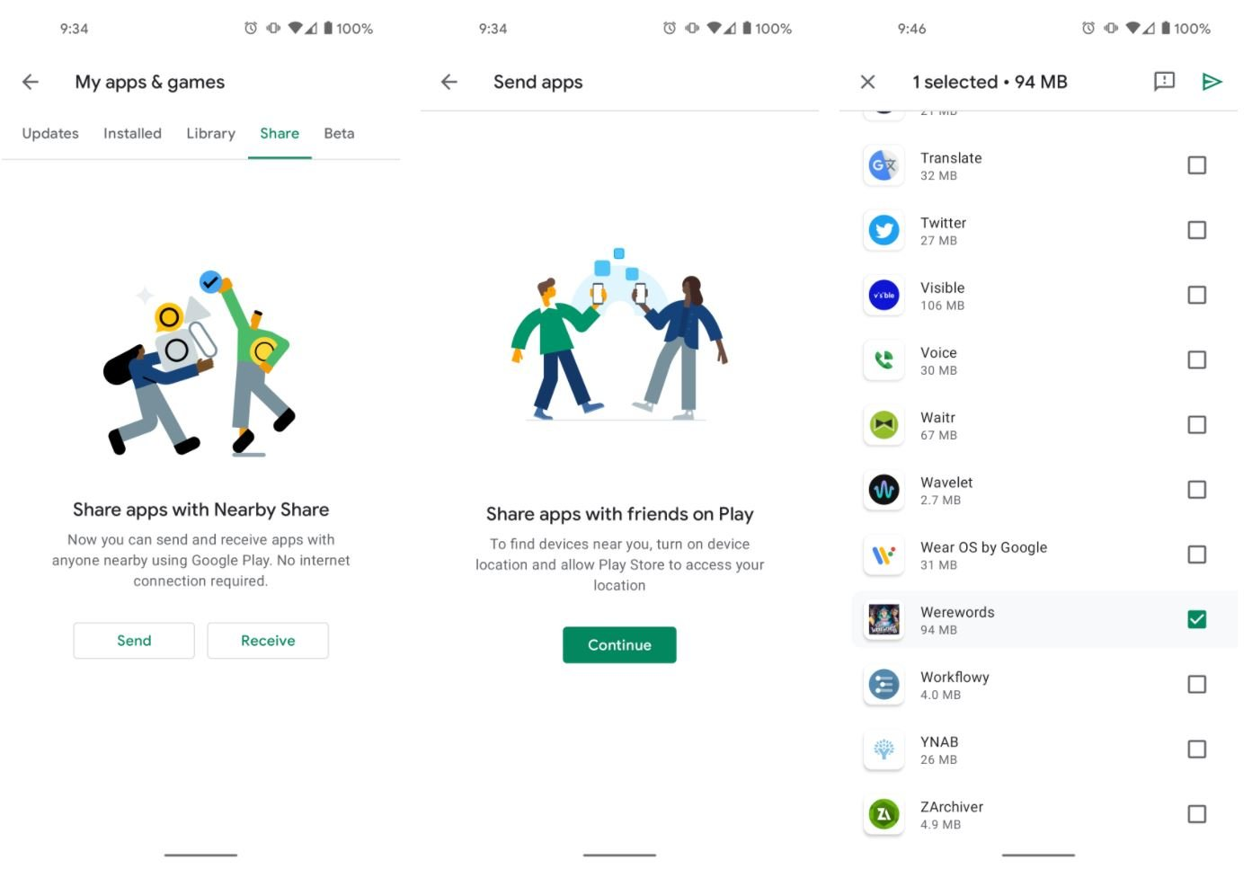 play store app share