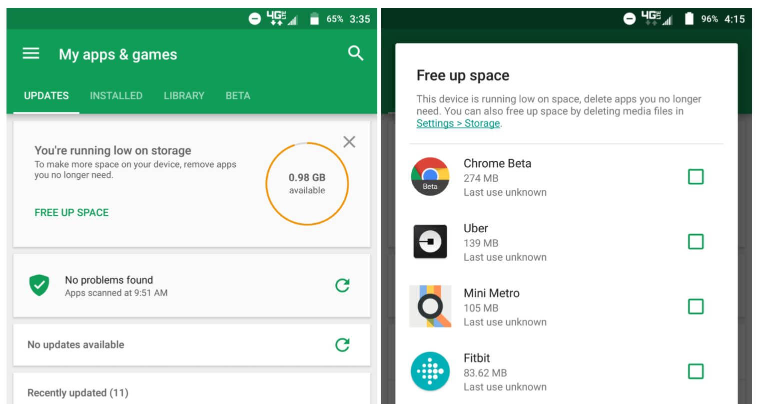 how to delete recommended apps on play store
