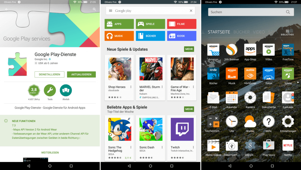 play store fire tablet