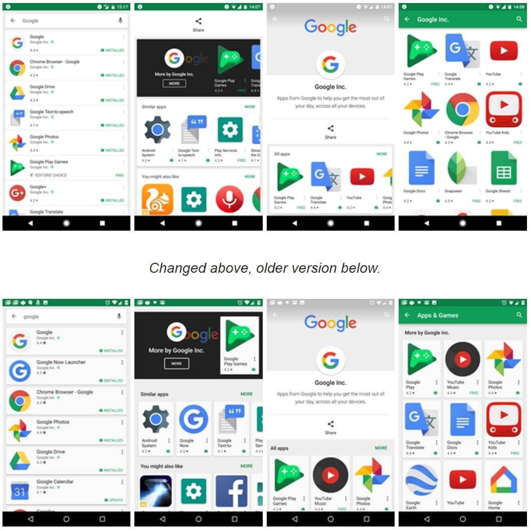 play store material design test