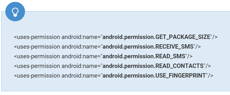 play store permissions