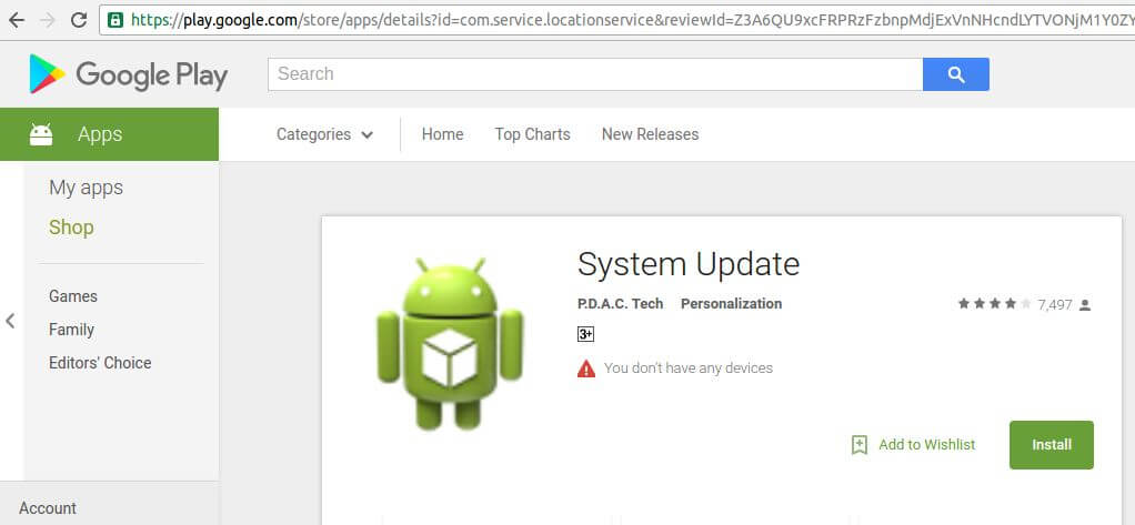 play store system update