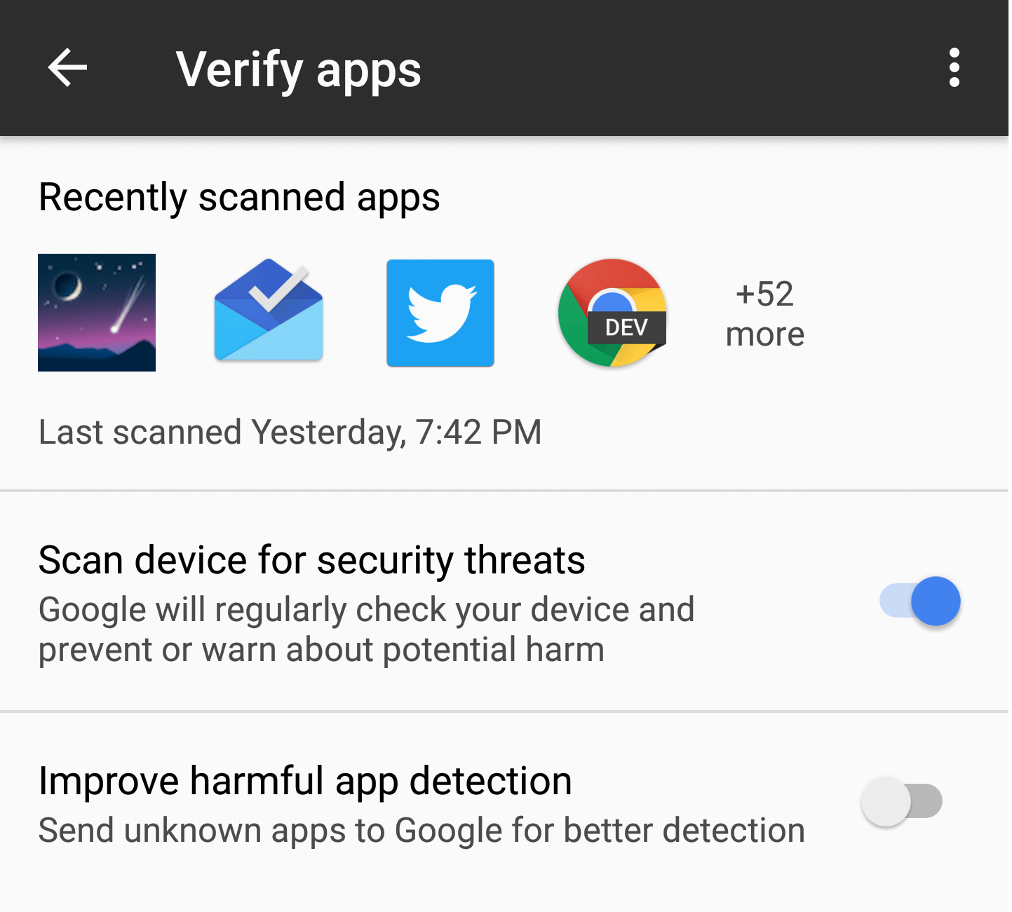 play store verify apps