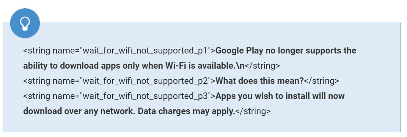 play store wifi
