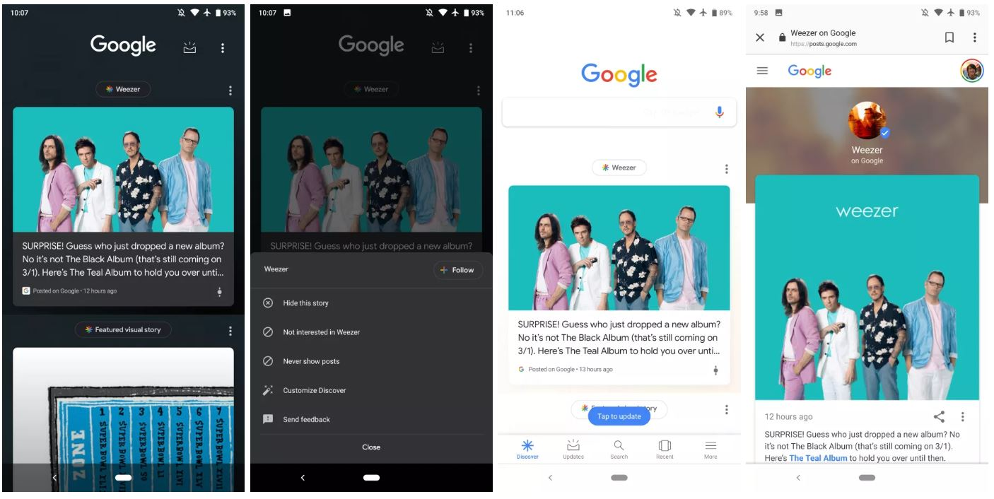 posts on google discover