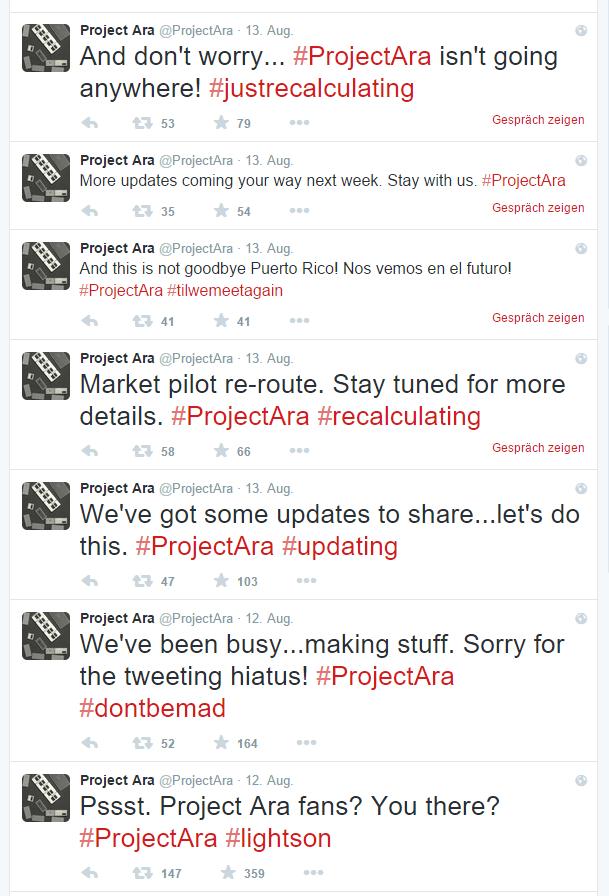 project ara tweets