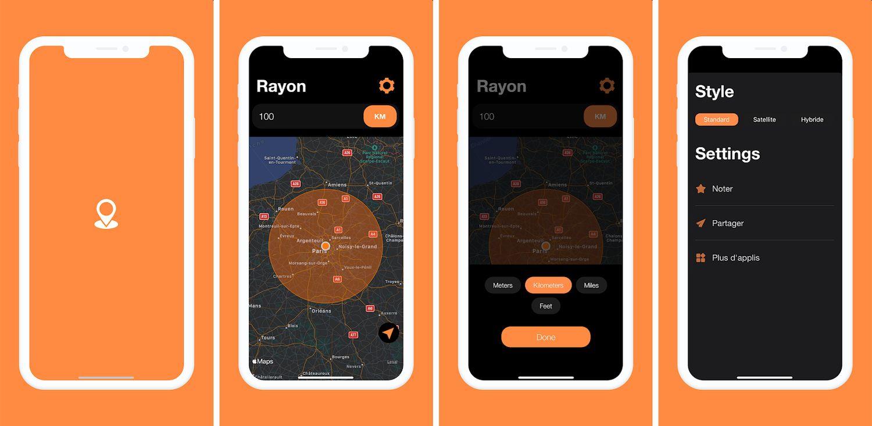 radius app screenshots