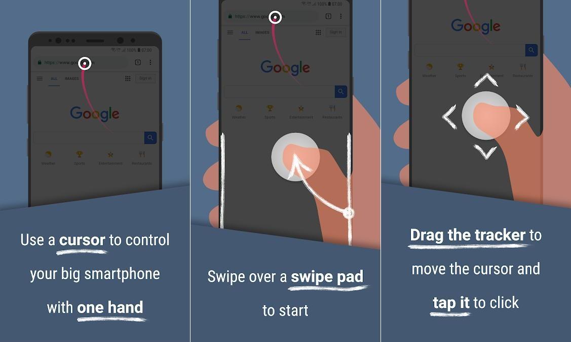 reachability cursor android app