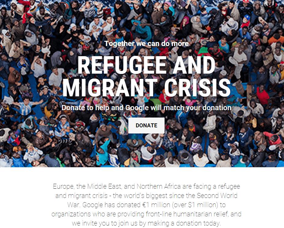 refugee donation