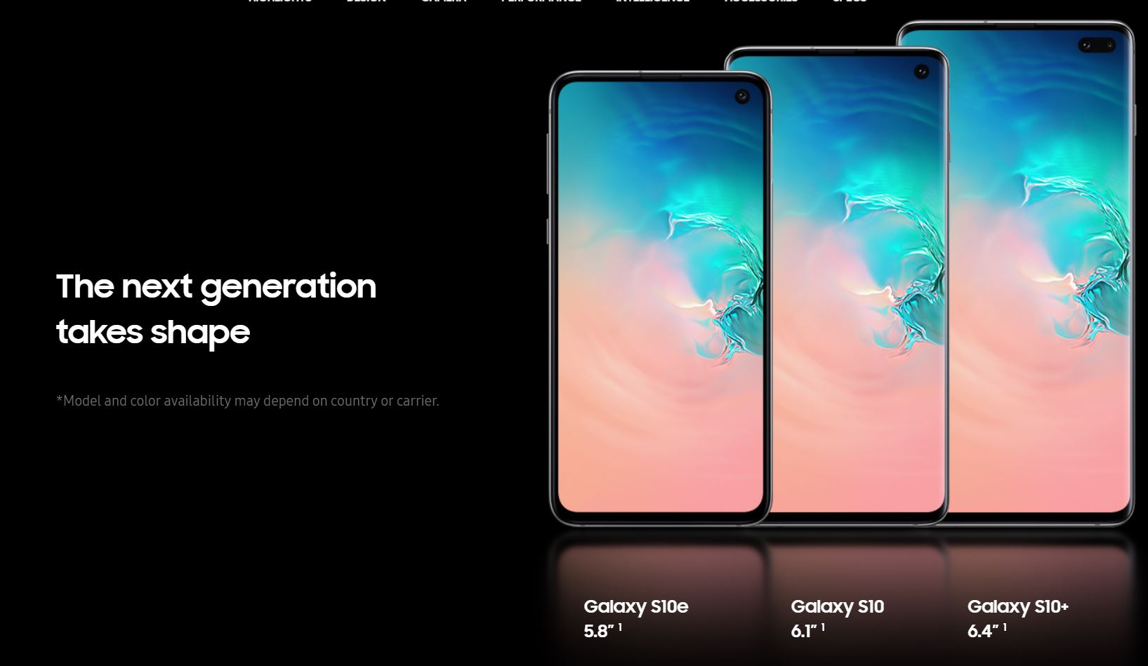 samsung galaxy s10 shapes