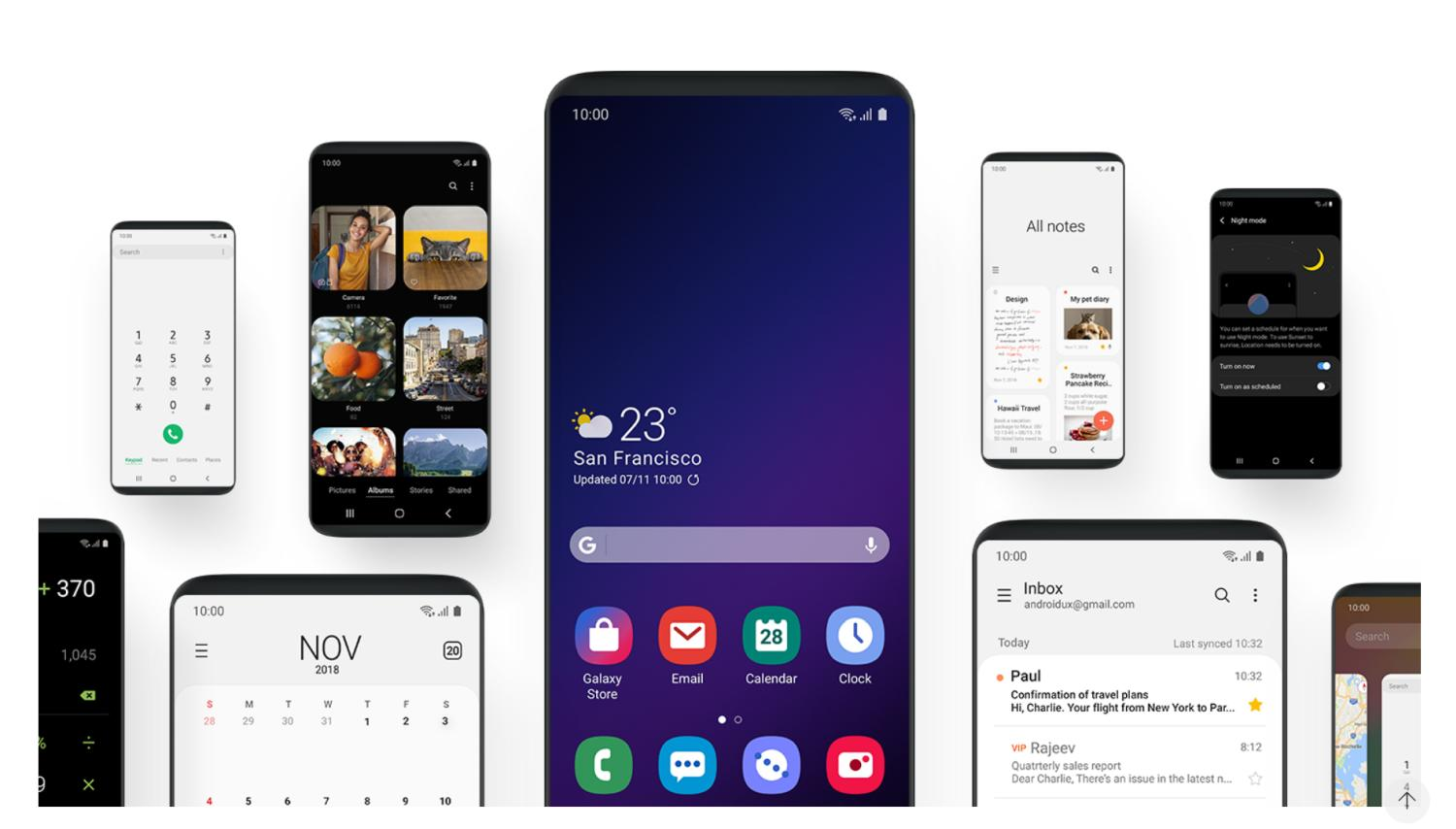 samsung one ui android pie beta