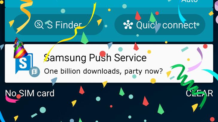 samsung push service billionaires club