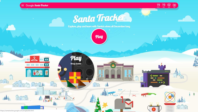 santa tracker 2018