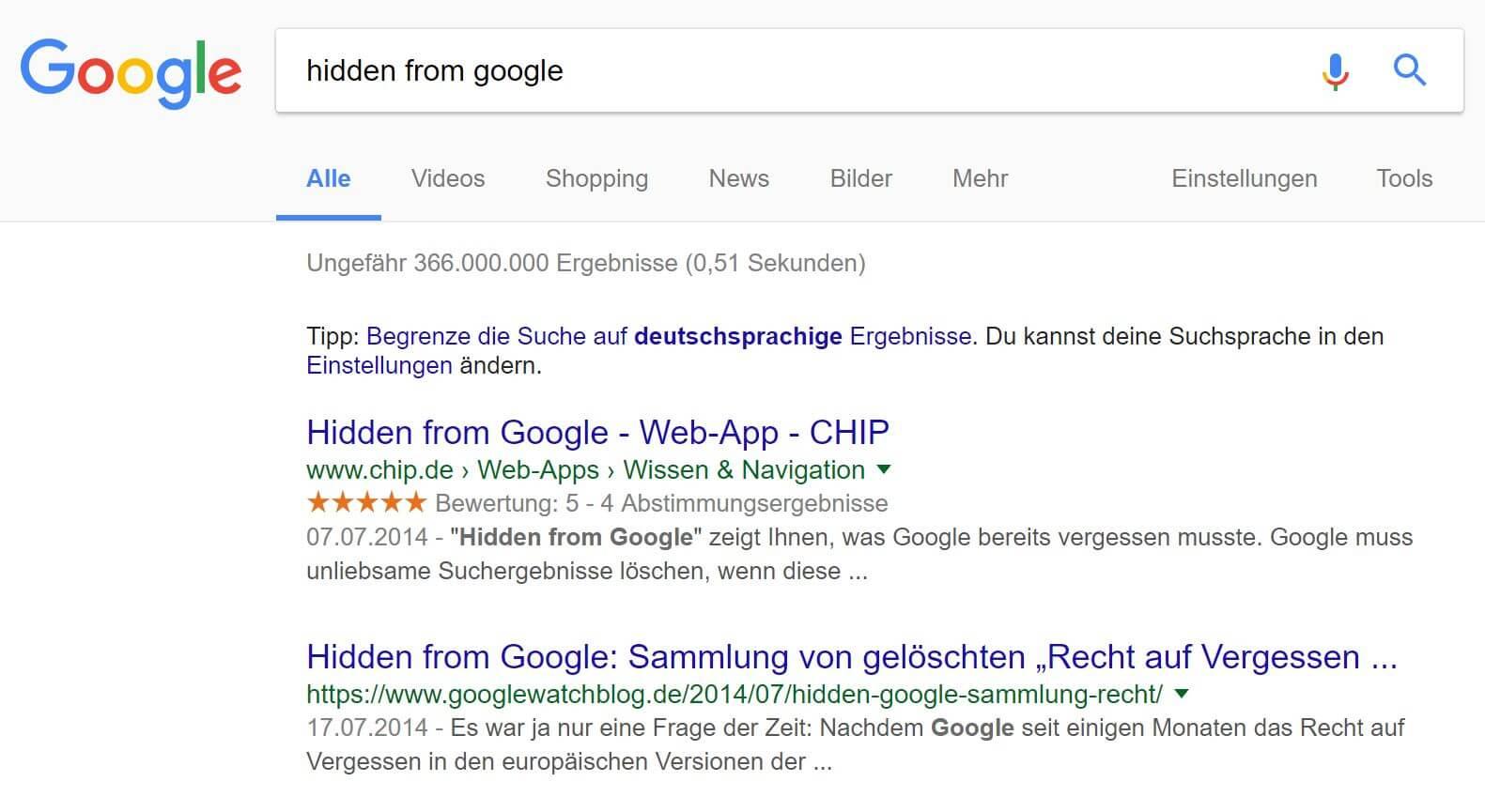 screenshot hidden from google
