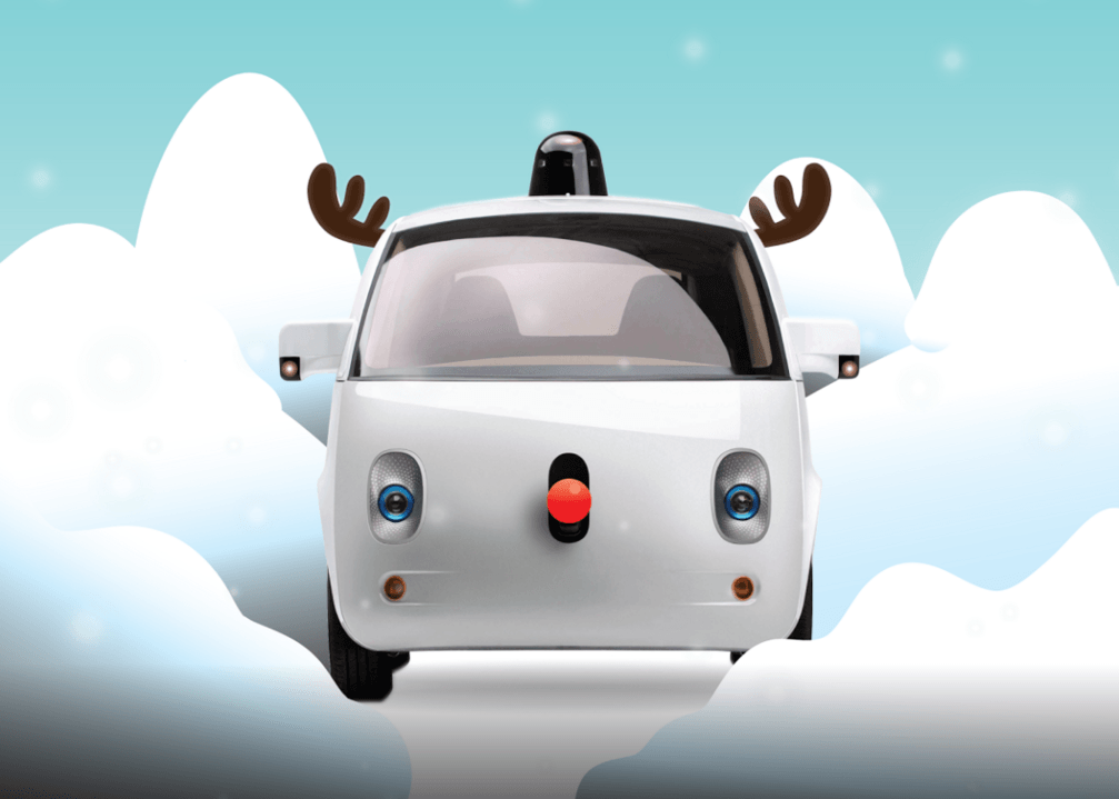 self driving car christmas