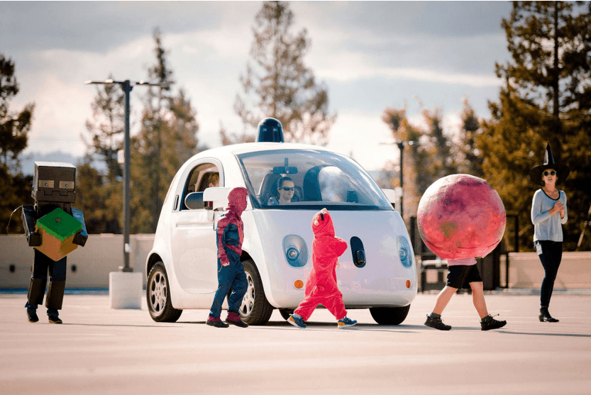 self driving car halloween