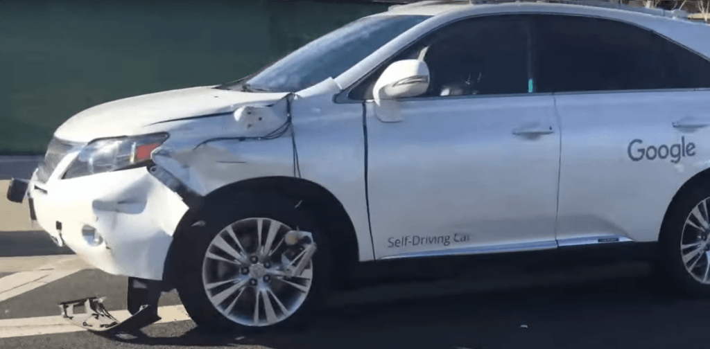 self driving car unfall