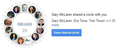 shared circles