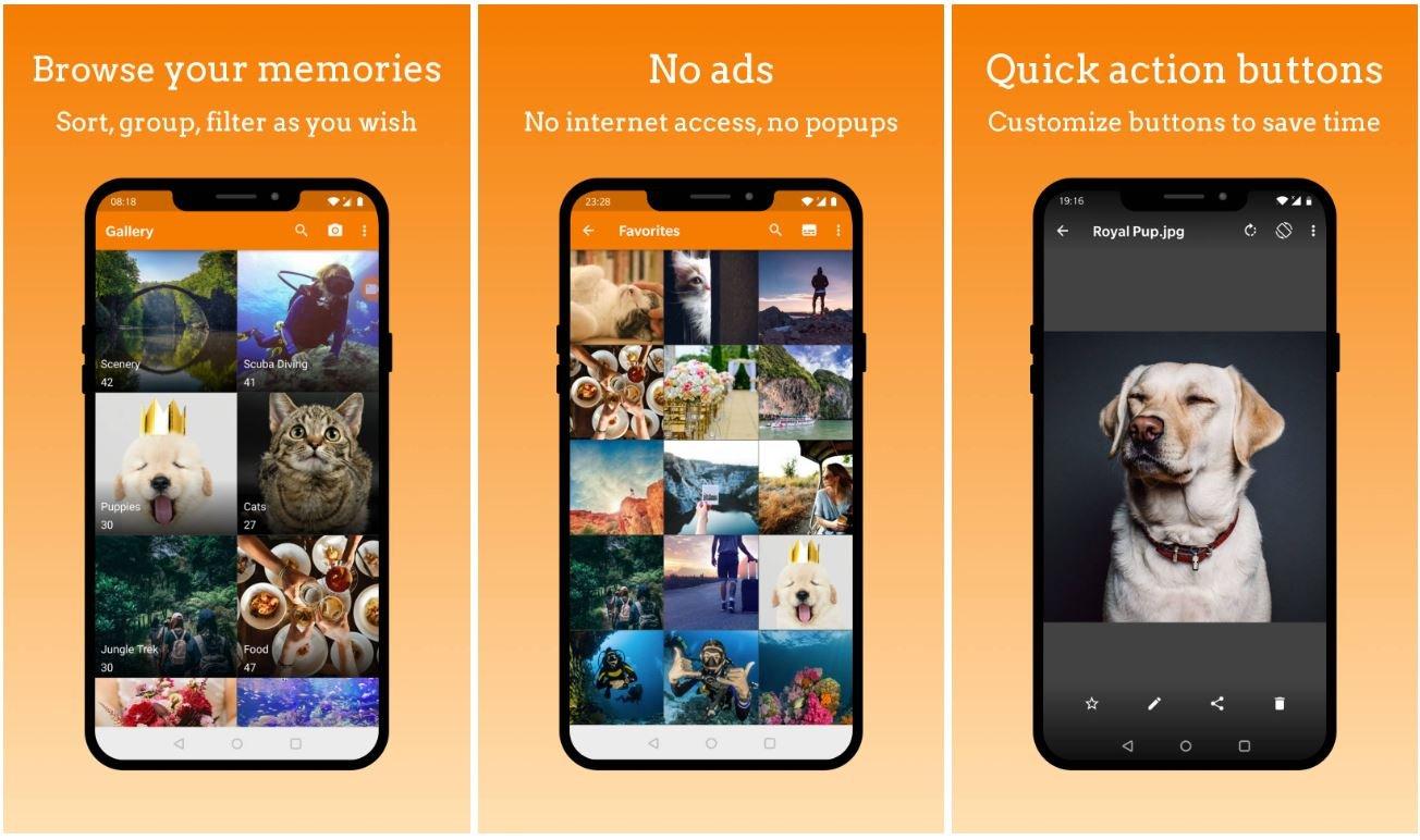 simple gallery screenshots