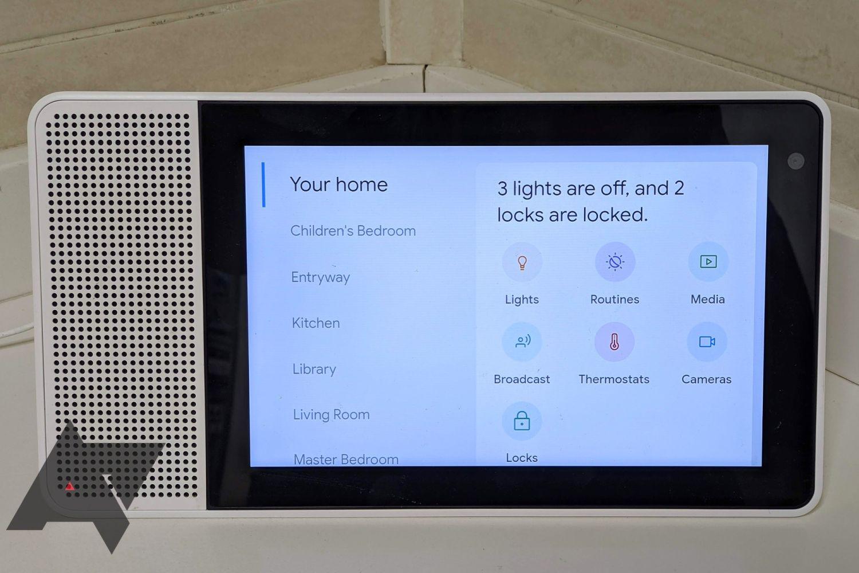 smart display lights and locks