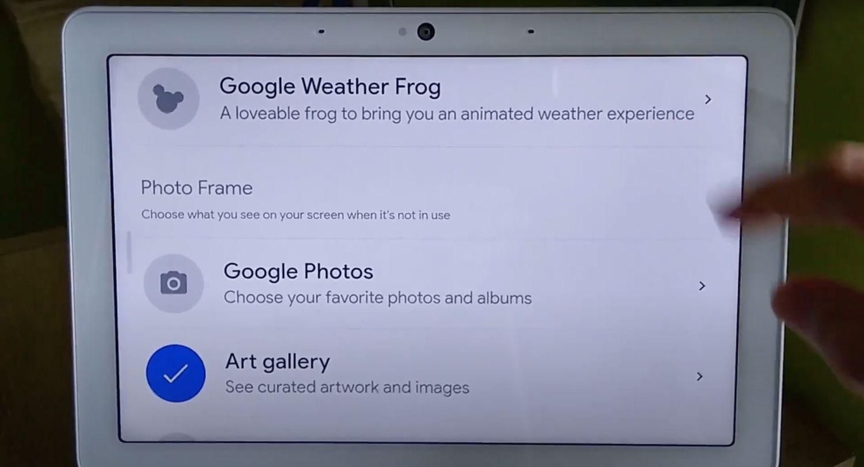 smart display wetterfrosch