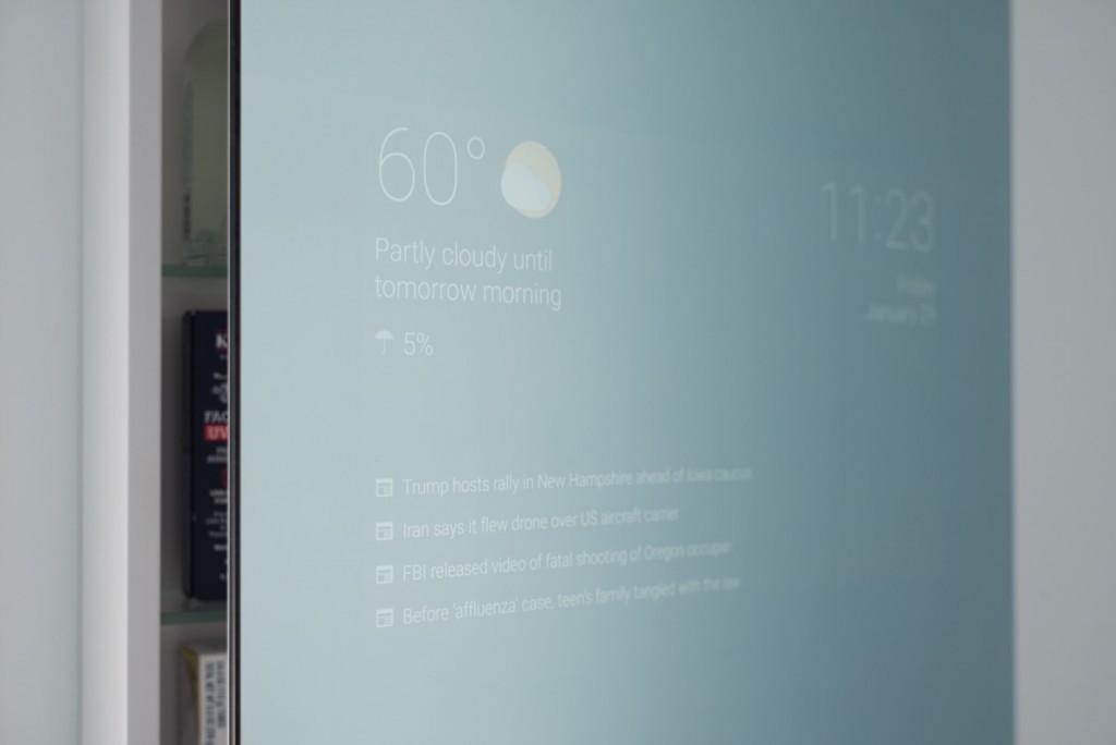 smart mirror front