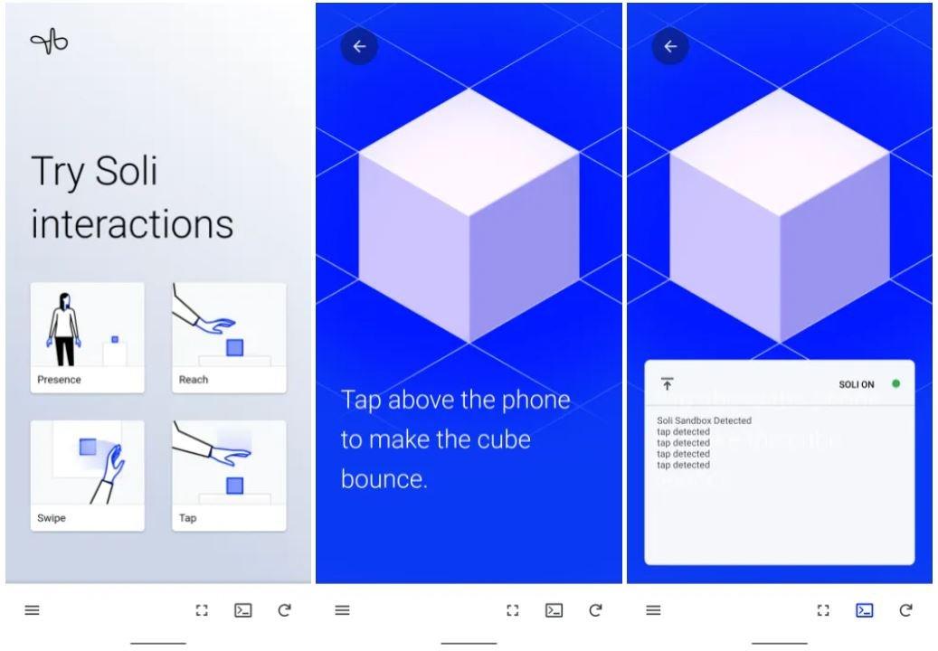 soli sandbox app pixel 4