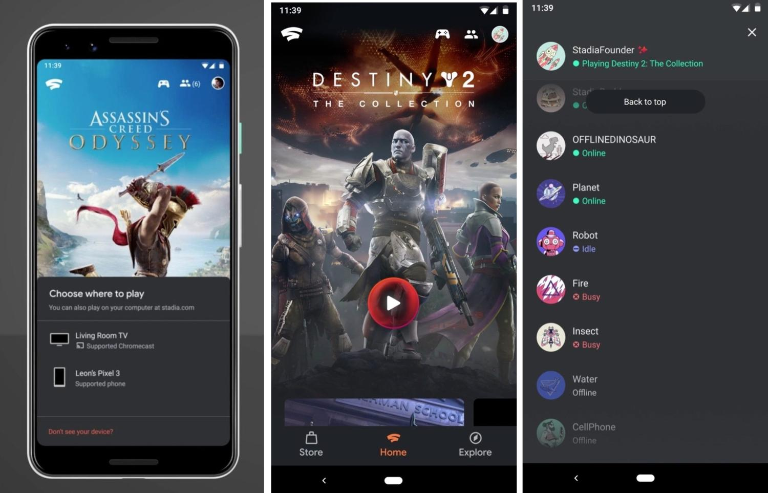 stadia android screenshots