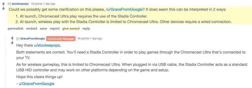 stadia controller statement
