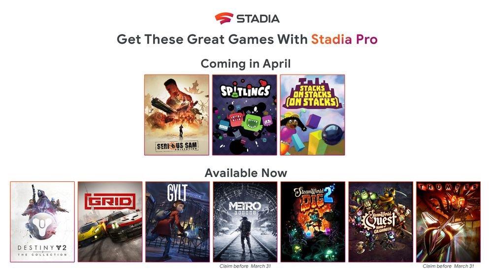 stadia new games april
