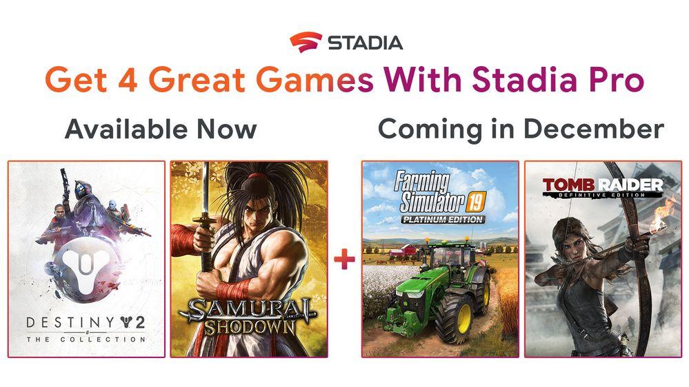 stadia new games
