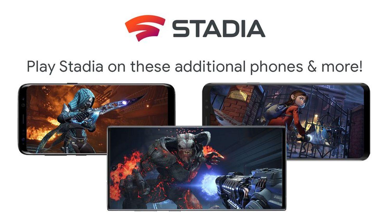 stadia new phones