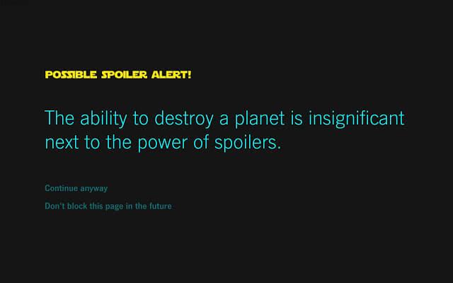 star wars alert