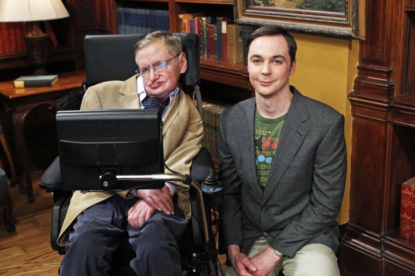 Stephen Hawking Sheldon Cooper