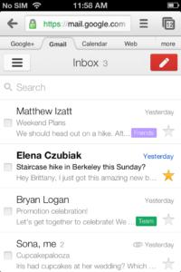 Gmail Mobile mit neuem Look