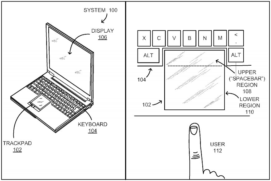 trackpad without spacebar